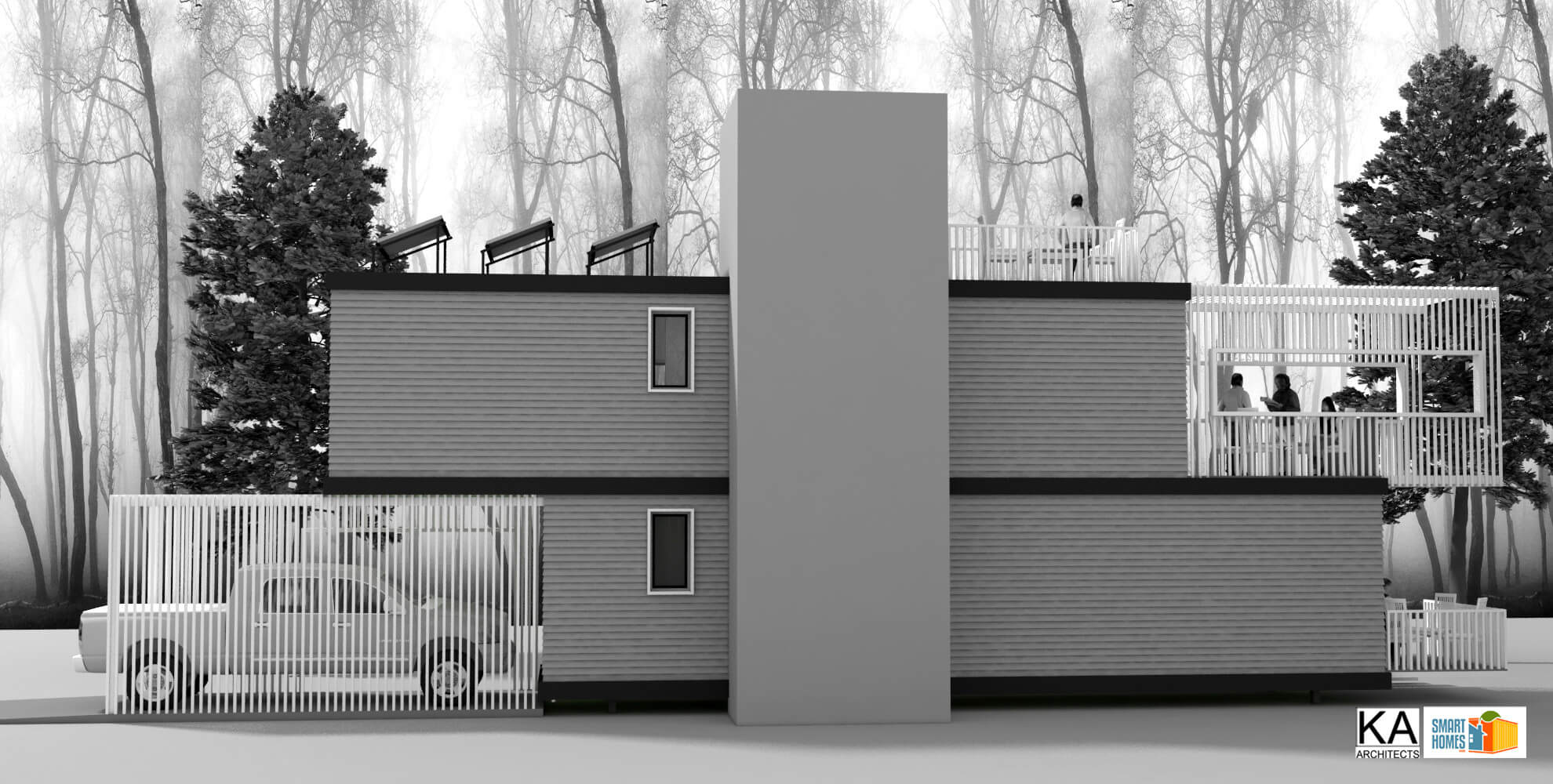 Two container homes smart homes usa for Smart house container