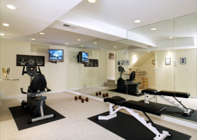 Ponte Vedra Basement Exercise Room Home Gym Wall Mirror Workout