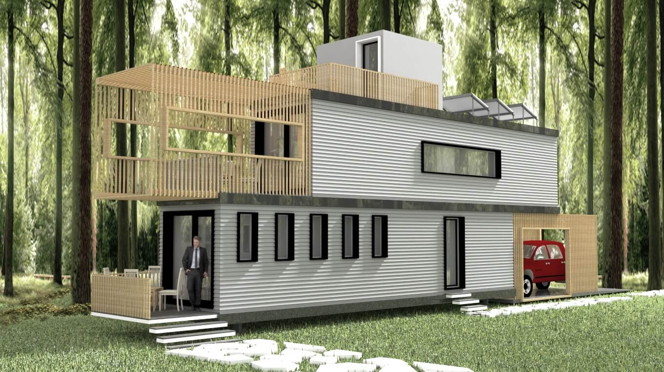 TWO CONTAINER HOMES - Smart Homes USA on green roof structure design, single container interior design, container construction, container architecture design, container home, kerala home plans and design, shipping container design, container box houses, steel container design, container buildings design, small 16x20 homes design, big boom design, container cabin design, storage container design, container cafe design, container store design, container restaurant design, container shop design, prefab warehouse design, container studio design,